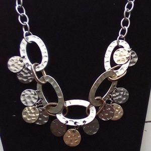 Vintage Funky Medallion Link Necklace.